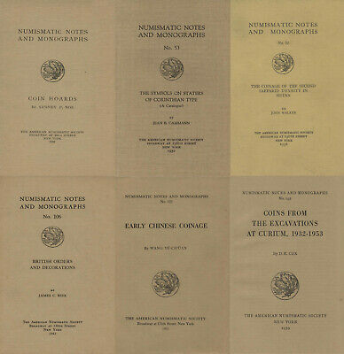 Numismatic Notes and Monographs, 160 vol. (1920-1970) on DVD
