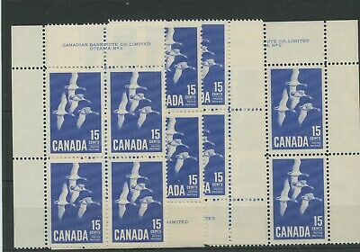 High catalogue 15c Canada Geese Matched set MNH stamp Canada mint
