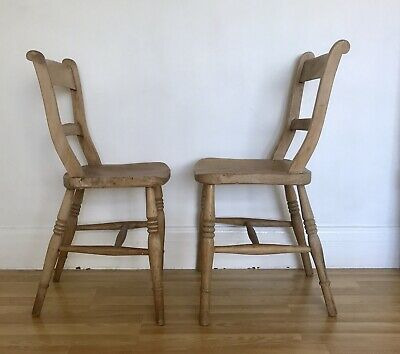 Pair Of Late Victorian Jointed Kitchen Chairs