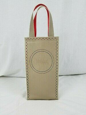 Obagi Two Bottle Wine Carrier Faux Leather Red Interior