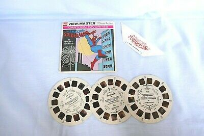Gaf View-Master Spiderman 3 Reel Set W/original Sleeve, Copyright 1977, H11
