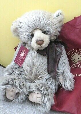 "New with tags and bag 18"" CHARLIE BEARS Plumo Year Bear 2012 Mohair"