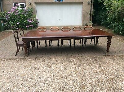 10ft Large Antique Georgian ; Cuban Mahogany Extending Dining Table,