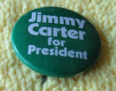 1976 JIMMY CARTER for President pin button political election