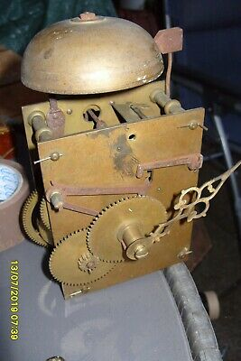 clock parts striking  GRANDFATHER MOVEMENT  + BELL