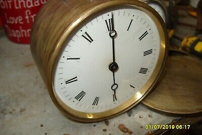 Clock Parts Drum Movement  Fixed Pendulum Working  See Video