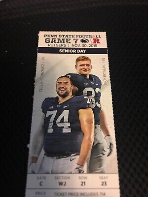 4 Tickets for Penn State Football vs Rutgers on NOV 30 2019 - Great Seats!!