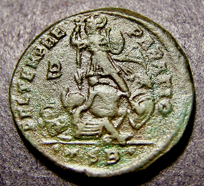 CONSTANTIUS II, Battle, Soldier Spears Horseman, Thessalonica, SCARCE Roman Coin