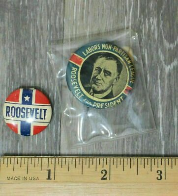 Roosevelt For President Button 1944 FDR Presidential Campaign Pinback Authentic