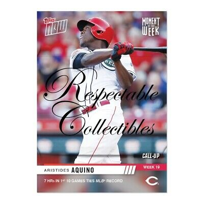 Aristides Aquino 2019 MLB TOPPS NOW® Moment of The Week MOTW Card #MOW-19 Reds