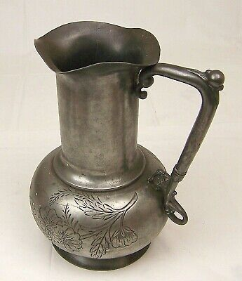 Large,Vintage Silver Plate Pitcher Quadruple Plate,Manhattan Silver Plate Co.340