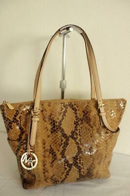 Authentic Michael Kors Python Snakeskin Tote Bag