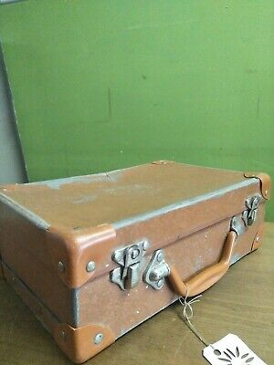 Vintage Lunch Suitcase -Brown -Made in England