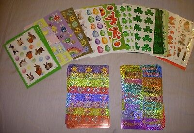 Lot of stickers scrapbooking children toys M&M's Easter Valentine's Day Elmo