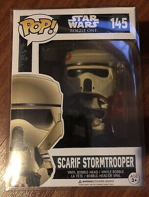 Funko Pop! Vinyl - Star Wars Rogue One - Scarif Stormtrooper #145 with Protector