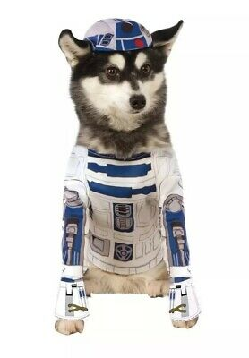 Official Rubie's Star Wars R2-d2 Pet Dog Costume, Size: Medium Neck To Tail 15in