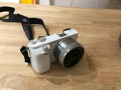 Sony Alpha A6000 24.3MP Digital Camera - White (Kit with 16-50mm Power Zoom...