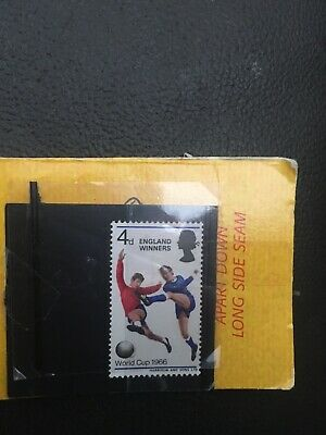 4d World Cup 1966 single stamp. Harrison & Sons Ltd.unfranked