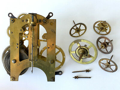 Ansonia Clock Co. Antique American 8 Day Movement