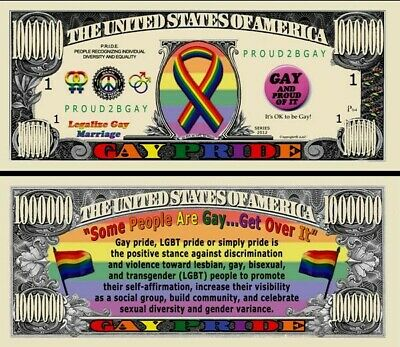 2 Notes Gay Pride Million Dollar Notes New In protective sleeves