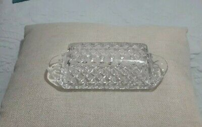 Vintage Pressed Glass Covered Butter dish