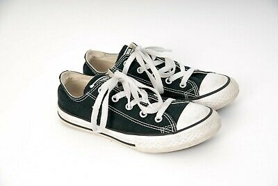CONVERSE Chuck Taylor All Stars Low Sneakers/Casuals-Black/White Youth Size 2