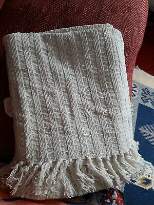 Rustic Stripe Throw Made In India Throw Blanket Beige 50 x 60 inch
