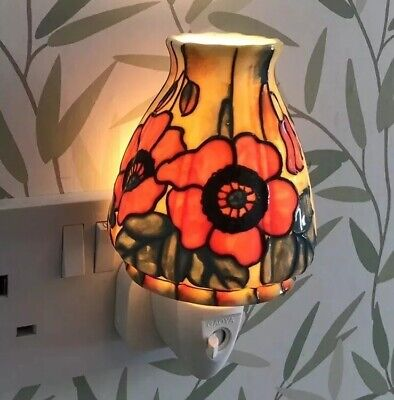 Old Tupton Ware Ceramic Decorative Night Light Yellow Floral Hand Painted Boxed