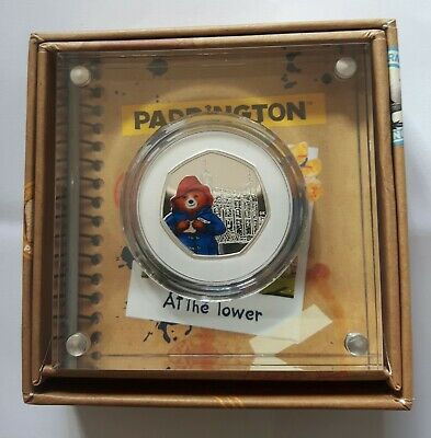 Paddington at the Tower 2019 UK 50p Silver Proof Coin