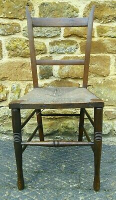 Fumed Oak Antique William Birch Liberty arts and crafts chair