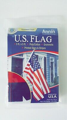 Annin Flagmakers Brass Grommet Style USA American Patriotic US Flag 3 x 5 ft.