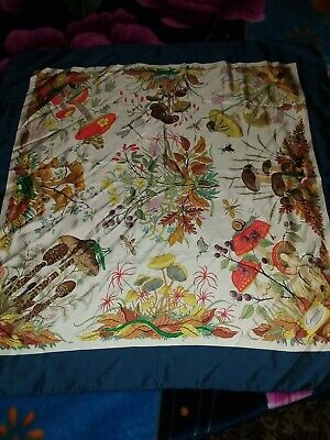 eb11aae4d0c1a GUCCI FLORA SILK Scarf by Vittorio Accornero 34in Iconic Vintage ...