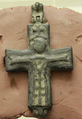 Ancient Byzantine Bronze Reliquary Cross 6th century A.D L= 63x38mm, 20gr.Christ