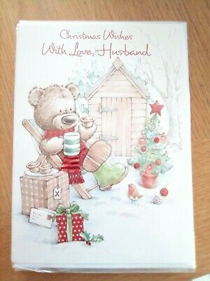 Size 25 x 17.5 /& 23 x 15.5 cm Husband Christmas Card 3 Design Approx