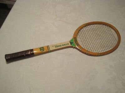 Vintage Wilson Stan Smith Super Rally Model Wood Tennis Racquet