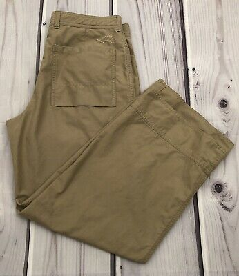 Womens Juniors Horny Toad Crop Ankle Pants Tan Size 6 EUC