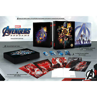 Avengers Endgame 3D & 2D Zavvi Exclusive Collector's Edition Steelbook Blu Ray