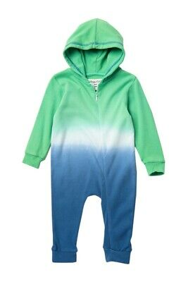 Sovereign Code Infant Toddler Boy's 1 Pc Tie Dye Hooded Romper Outfit Blue Green