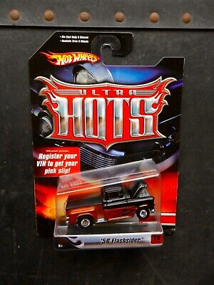 """Hot Wheels Black/Copper 1956 Chevy """"Flashsider"""" Ultra Hots Series W/Real Riders"""