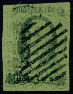 af06 Mexico #7 1R Early Print Puebla Lg Ovpt Sz 1159 10pts VF Example Est $10-20