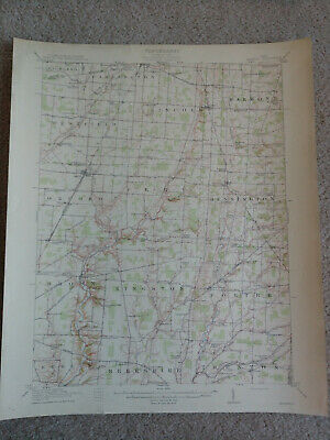 WOW 1882 OHIO POST OFFICE RAIL MAP Fremont Powell Girard Greenville Bryan Morral