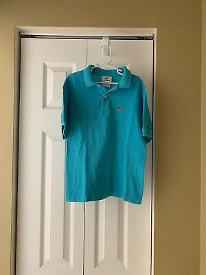 LACOSTE Classic Polo Blue Shirt Boys Size 12