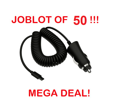 JOBLOT 80 x Kit Micro USB In-Car Charger For Android Samsung Nokia Sony LG Moto