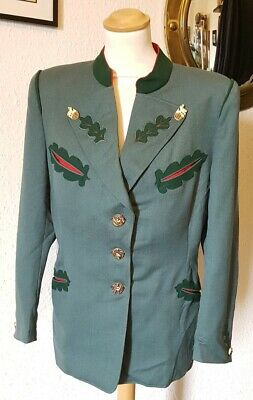 Vintage Original 1940s WW2 Wartime Green Red Trachten Jacket Blazer Landgirl 12