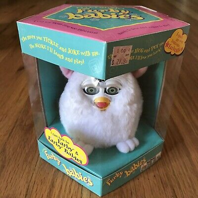 Furby Babies 70-940 Vintage 1998 White Fur Green Eyes Unopened Mint In Box RARE