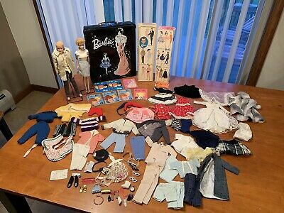 Rare Early Vintage Barbie Doll Case Clothes Lot Blonde JAPAN 1962? 1963 ?1958?