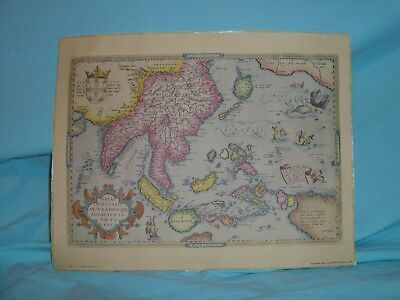 Poster Map of South East Asia by Abraham Ortelius 1570