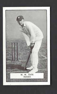 Gallaher - Famous Cricketers - #77 M W Tate, Sussex