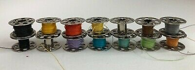 Lot of 14 Vintage Metal Bobbins 7 Hole Sewing Crafts Jewelry Making