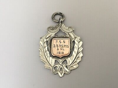 Solid Silver Fob Chester 1911 The Royal Scotts Military Interest